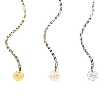 Personalized Disc Necklace