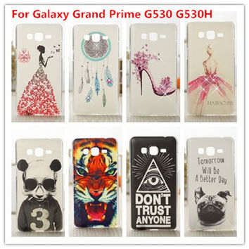 New Luxury Crystal 3D Diamond  PC Plastic Back Phone Cover Case For Samsung Galaxy Grand Prime G530 G530H G5308W Cases