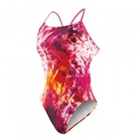 Nike Fractured Tie Dye Cut-Out Tank at All American Swim