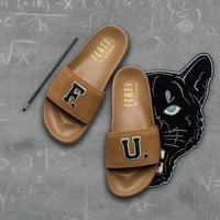AA SPBEST Puma x Fenty by Rihanna Leadcat F.U. Slide - Golden Brown