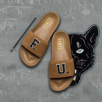 AA KUYOU Puma x Fenty by Rihanna Leadcat F.U. Slide - Golden Brown