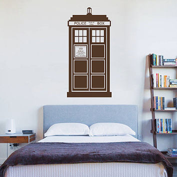 kik2242 Wall Decal Sticker Time Machine Spaceship tardis doctor who living children's bedroom