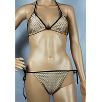 Louis Vuitton Fashion Edgy Brassiere Underpant Set Two-Piece Bikini