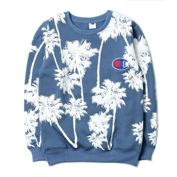 One-nice™ Champion Embroidery round collar sweater thickening sweater