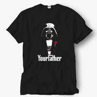 Darth Vader The Godfather Star Wars Shirt, White Shirt, Popular Shirt Hot Product On USA Size S-M-L-XL