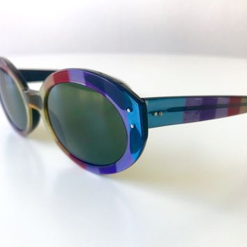 dcc4ba9fddb vintage RAY BAN Bewitching multicolor sunglasses USA made rare 1