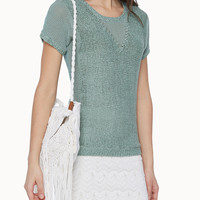 Voile back sweater