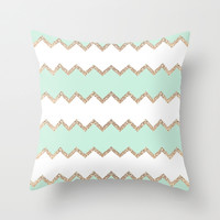 *** AVALON SEAGREEN  ***Throw Pillow by Monika Strigel | Society6