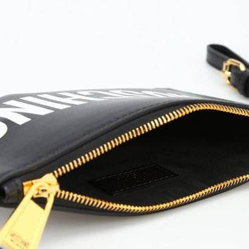 Leather Clutch by Moschino