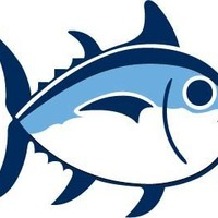 "Southern Tide Fish Vinyl Sticker Decal 4""X4"""