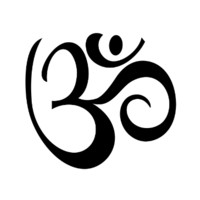 Yoga Aum, Ohm, Om Symbol Tattoo Set
