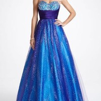 Strapless Long Prom Ball Gown - David's Bridal - mobile