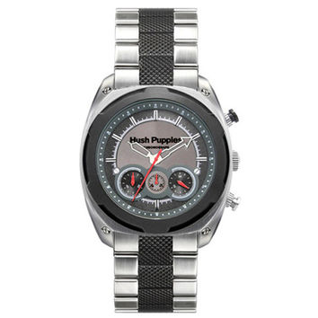 HUSH PUPPIES MEN'S TWO-TONE GRAY STAILESS STEEL CHRONOGRAPH WATCH HP.6047M.1502