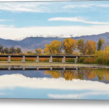 Autumn Lines Continental Divide And Sky Diver Metal Print