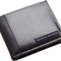 Tommy Hilfiger Mens Genuine Leather Passcase Wallet