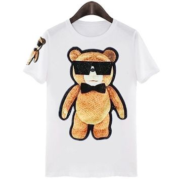 Cool Teddy Bear With Sunglasses T-shirt