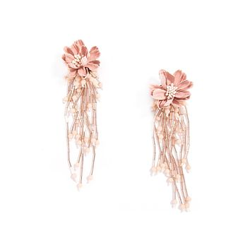 Wild Lotus Drop Earrings