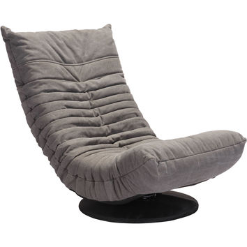 Down Low Swivel Chair, Gray