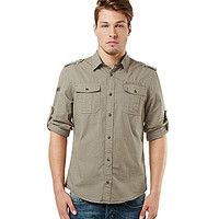 Buffalo David Bitton Roll-Tab Button-Up Shirt - Sablee