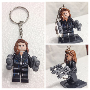 Lego BOGO Buy 1 Get 1 Promo! Lego® Black Widow Keychain, The Avengers Superhero Keychain, FREE Lego® Minifigure Keychain Party Favors Gift