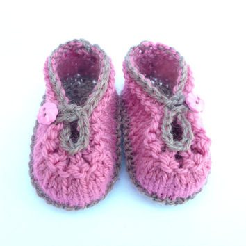 BABY Booties KNITTING PATTERN  Summer Sorbet Baby Shoes by ceradka
