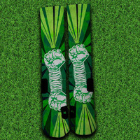 Green Lantern's light Socks,Custom socks,Personalized socks,Elite socks