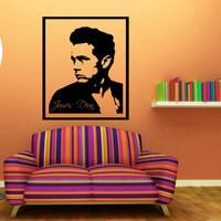 James Dean Wall Decal Framed 17 x 21 Inches