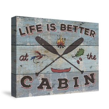 Cabin Fever I Canvas Wall Art