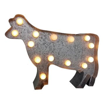 SONOMA life + style Cow Marquee LED Wall Art