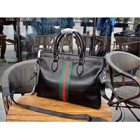 GUCCI MEN'S NEW STYLE LEATHER BRIEFCASE BAG CROSS BODY BAG