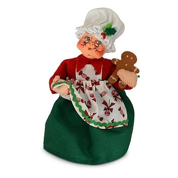Annalee Dolls 6in 2018 Christmas Chef Mrs. Santa Plush New with Tags