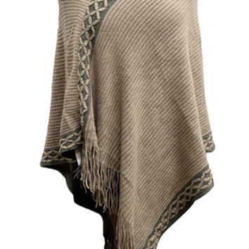 Abersoch Poncho-Taupe