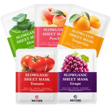 RE:CIPE Slowganic Sheet Mask (5 PC Set)
