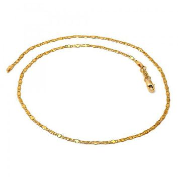 Gold Layered Fancy Necklace, Mariner Design, Golden Tone