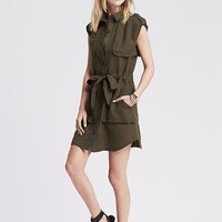 Banana Republic Womens Heritage Linen Safari Shirtdress