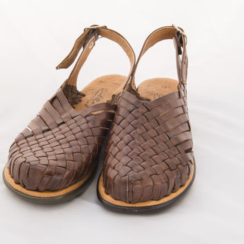 Mexican Huarache Sandals - Women's Lejano Style Brown