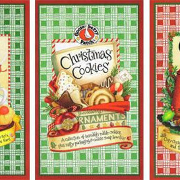 3 Christmas Ornaments - Replicas Gooseberry Patch Cooking Books