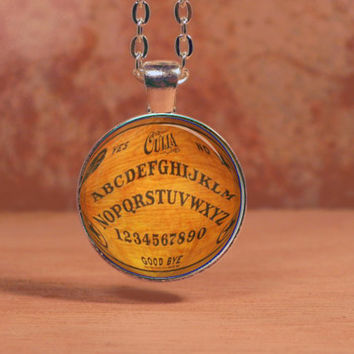 Vintage Ouija Board Mystical Occult Necklace Inspiration Jewelry