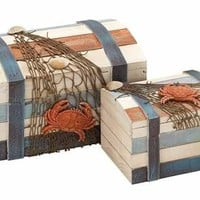 Box accented with Shipwreck Salvage Features - Set of 2