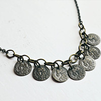 40% OFF // Antique Coin Necklace // Gypsy Necklace // Boho Chic // Bronze Necklace