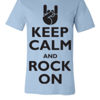 Keep Calm and Rock On - Unisex T-shirt