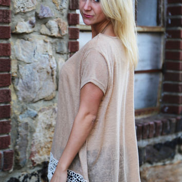 For Real Crochet Tunic {Light Mocha}