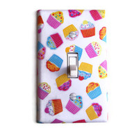 Cupcakes Single Toggle Switchplate