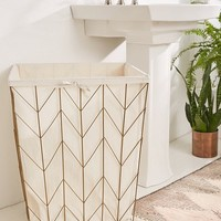 Chevron Frame Wire Hamper | Urban Outfitters
