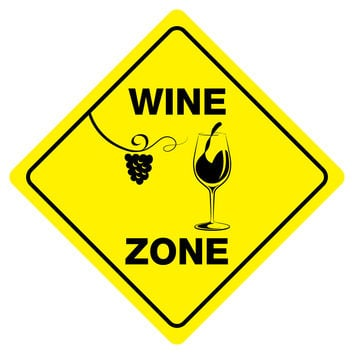 """WINE ZONE Funny Novelty Xing Sign 12""""x12"""""""