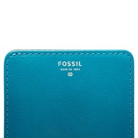 Women's Fossil 'Sydney' Bifold Leather Wallet - Blue