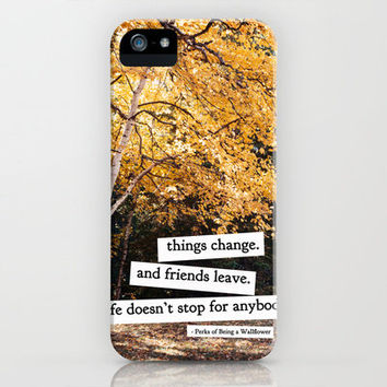perks of being a wallflower - life doesn't stop for anybody iPhone Case by lissalaine | Society6