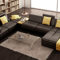 Guzman Unique Sectional by Scene Furniture - Opulentitems.com