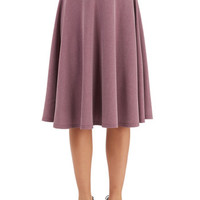 ModCloth Vintage Inspired Long High Waist Bugle Joy Skirt in Wisteria