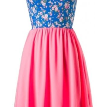 Sweetheart Floral Dress-$29